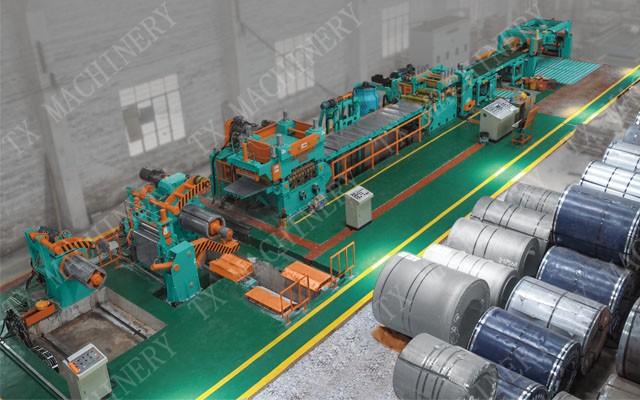 CNC start- stop shear cutting machine